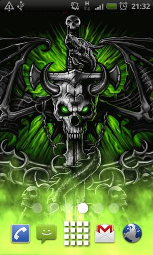Dragon Skull Flames LWP