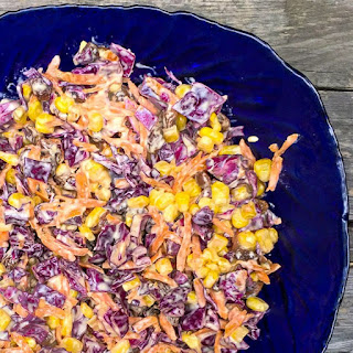 Red Cabbage Coleslaw.