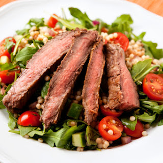 1. Flank Steak with Coffee-Peppercorn Marinade.