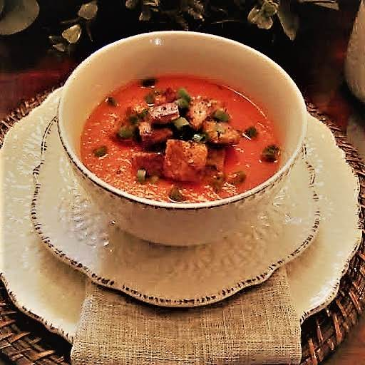 Rustic Fresh Tomato Soup My Photo