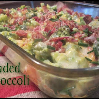 Low Carb Keto Friendly Loaded Broccoli.