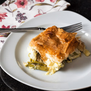 Asparagus and Leek Pie.