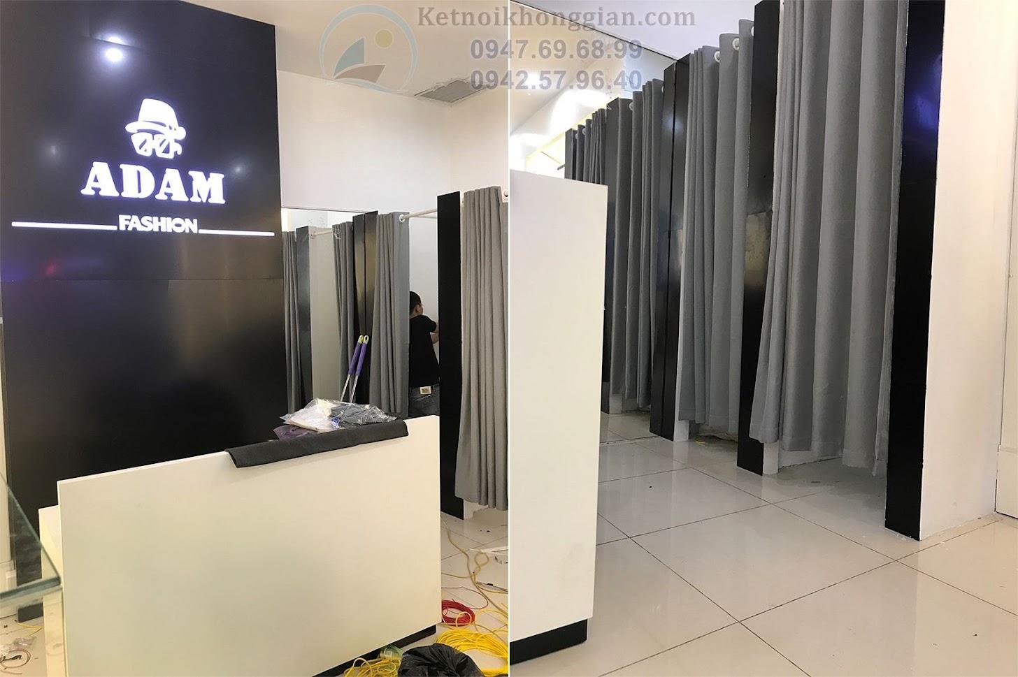 thi công cửa hàng thời trang nam