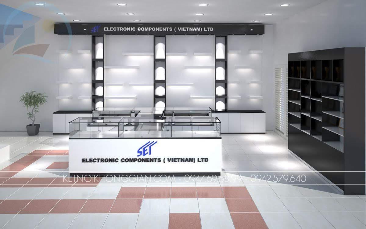 thiết kế showroom thiết bị điện SEI 1