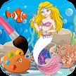 Mermaid coloring pages game APK