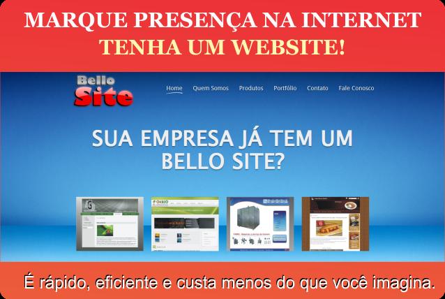 Tenha um website agora!