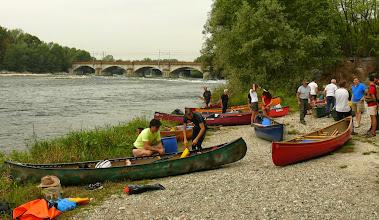 Photo: L'imbarco dopo il ponte ferroviario di Trecate