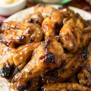 Honey Mustard Soy Glazed Chicken Wings.