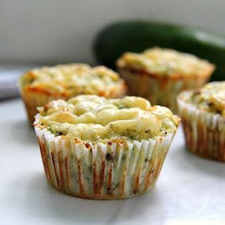 Keto Zucchini Cheese Muffins.
