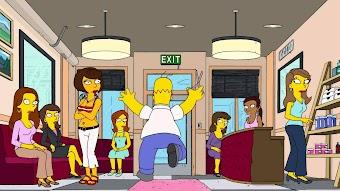Homer mit den Fingerhänden