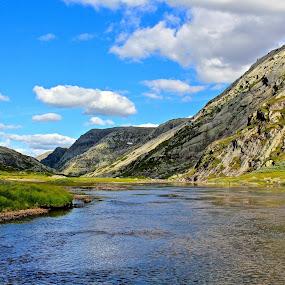 Mountains in Norway by Fredrik A. Kaada - Landscapes Mountains & Hills ( water, hills, sky, mountain, nature, grass, landscape )