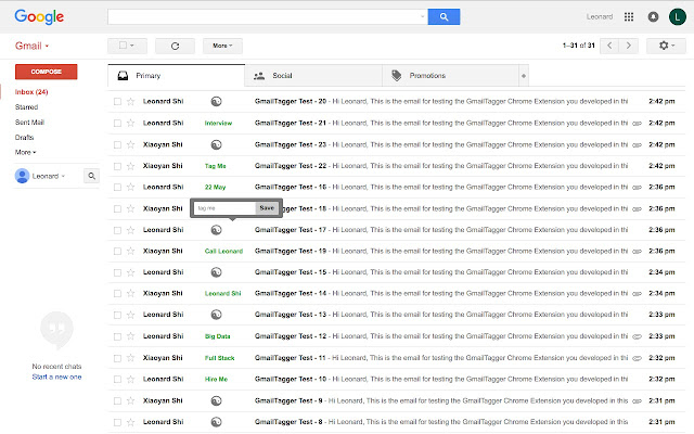 Gmail Tagger