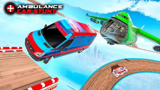 Ambulance Car Stunts: Mega Ramp Stunt Car Games 2.1 screenshots 2