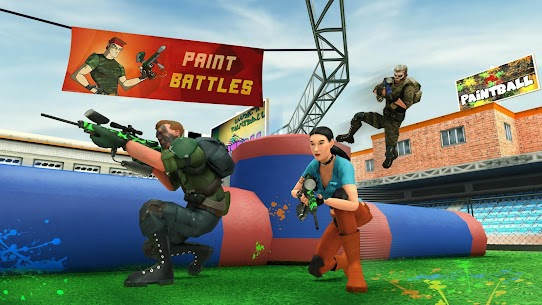 Paintball Shooting Squad: Battleground Army Combat Apk Download For Android and Iphone 4
