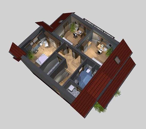 APS 007 - Rzut poddasza 3D