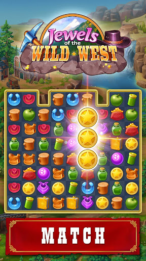 Jewels of the Wild West: Match gems & restore town android2mod screenshots 1