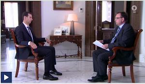 Assad und ARD-Korrespondent.