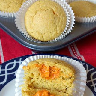 Tomato Pesto Stuffed Cornbread Muffins