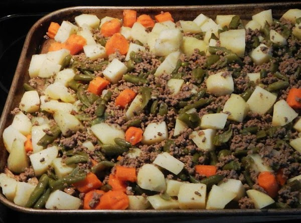 Ground beef cooling ..to be bagged and then frozen.Note: I went to the garden...