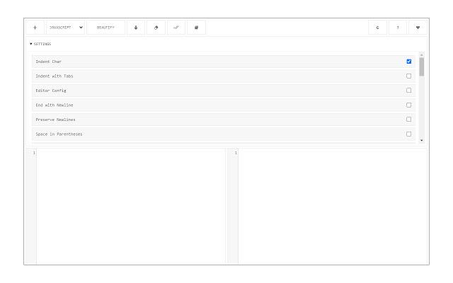 Code Beautifier (JS, CSS, HTML)