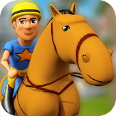Cartoon Horse Riding