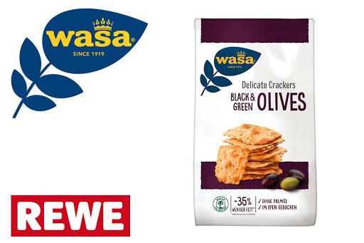 Bild für Cashback-Angebot: Wasa Delicate Crackers Olive - Wasa