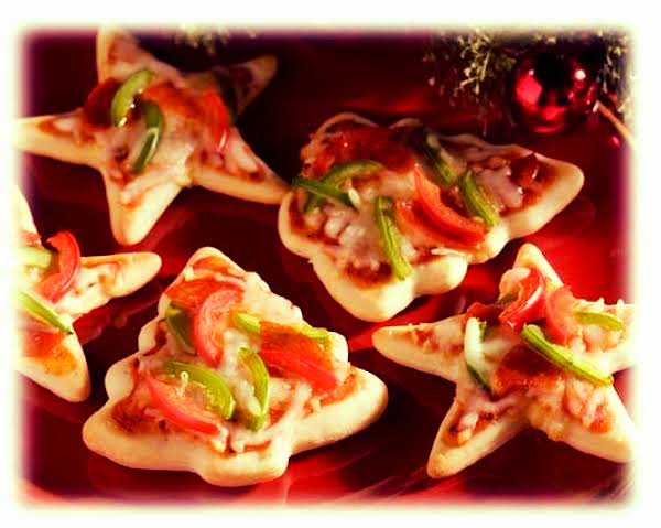 Christmas Cookie Cutter Pizza Appetizers (easy!) Recipe