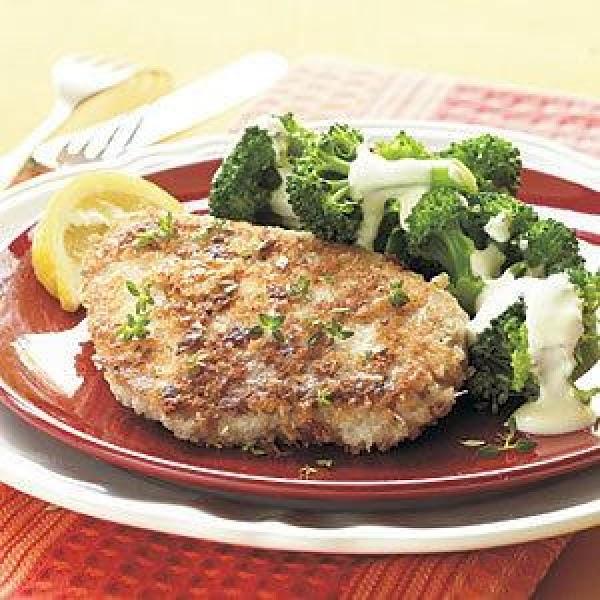 Asiago Crusted Pork Chops Recipe