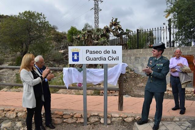 Desvelado el cartel del nuevo Paseo de la Guardia Civil de Níjar.
