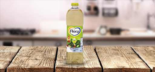 Flora Sunflower oil.