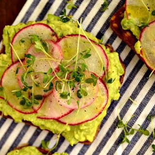 Springtime Avocado and Radish Toasts.