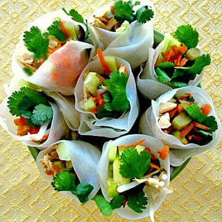 Thai Fresh Rolls (with Vegetarian Option).