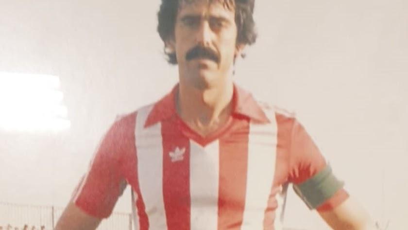 Ufarte con la rojiblanca del Almería que defendió como Agrupación Deportiva y Polideportivo.