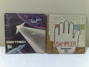 Photo: All that remains of our CompuColor II from the 80s. Two titles - StarTrek, Sampler.