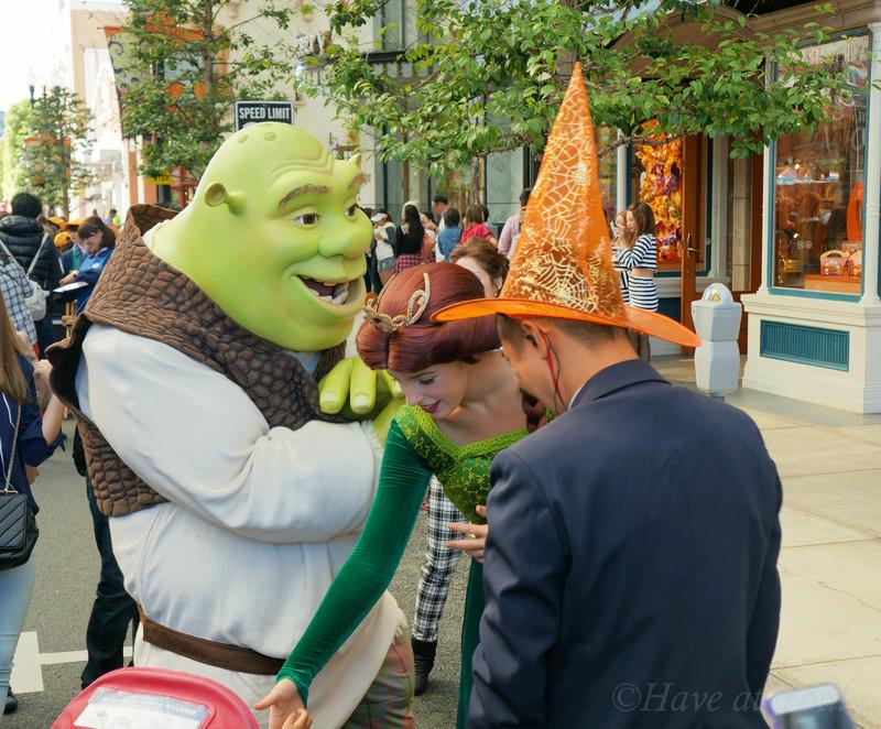 Fiona and Shrek at USJ