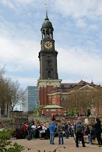 Photo: One of Hamburg's landmarks - the Michaelkirche