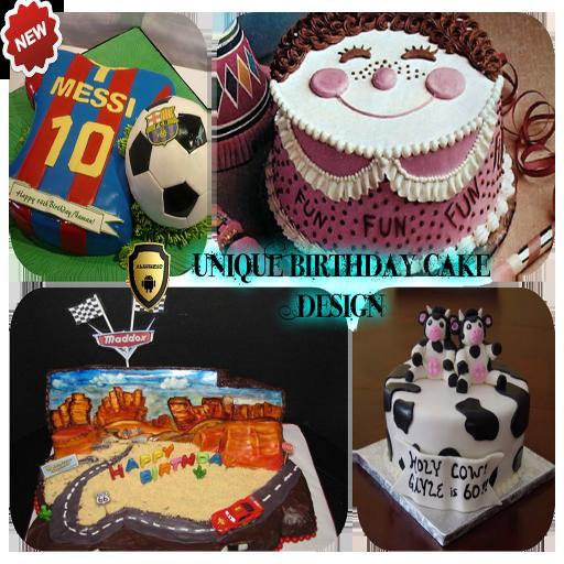 Groovy Unique Birthday Cake Design Apps Op Google Play Funny Birthday Cards Online Alyptdamsfinfo