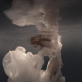 Radiance by Dmitry Laudin - Nudes & Boudoir Artistic Nude ( woman, beauty, light, underwater, nude, dive, body, water, swim )