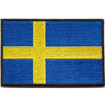 Svensk Flagga med kardborre