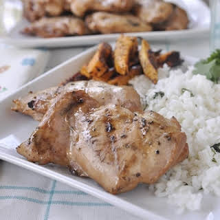 Sweet & Tangy Marinated Grilled Chicken.