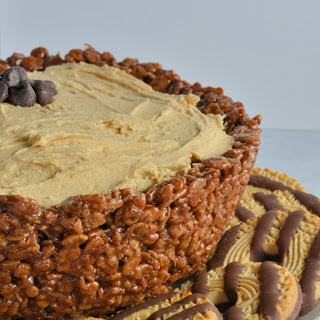 Whipped Peanut Butter Dip in a Chocolate Rice Krispy Treat Bowl.