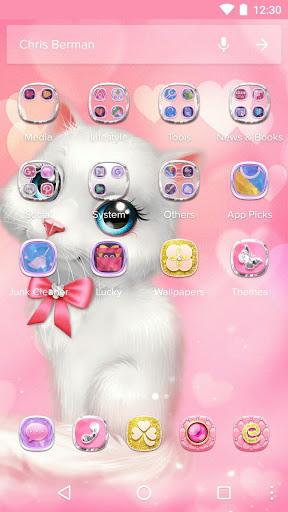Cartoon Theme - Pink Kitty 1.0.4 screenshots 2