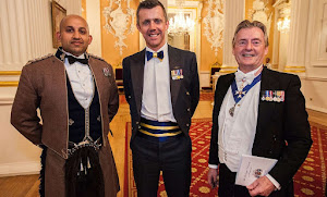Capt Cooper (London Scottish), Wg Cdr Roberts (LXX Sqn RAF), Renter Warden