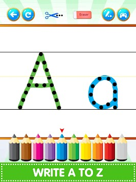 ABC123 English Alphabet Write apk screenshot