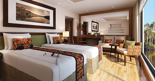 Amazon Discovery's Fauna Suites have an elegant, contemporary design.