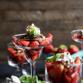 Nutella Strawberry Parfait with Coconut Whipped Cream.