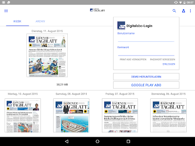az Badener Tagblatt E-Paper screenshot 4