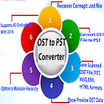 Export OST to PST By Atom TechSoft OST Converter tool to Recover OST