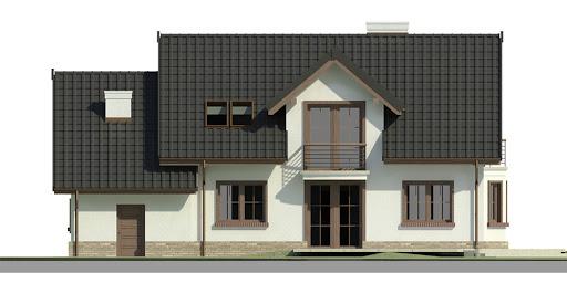 Dom przy Modrzewiowej 3 - Elewacja tylna