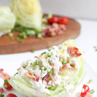 Blue Cheese Wedge Salad with Bacon.